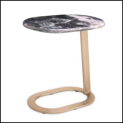 Objet décoratif style cubisme avec structure en en marbre blanc 24-Atticus