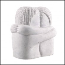 Decorative object in white marble 24-Love Couple