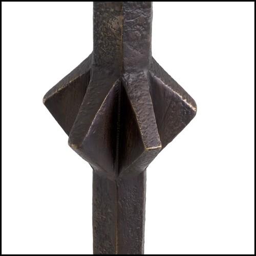 Set of 2 Ammonite decoratif objects in antique brass finish 24-Ammonite
