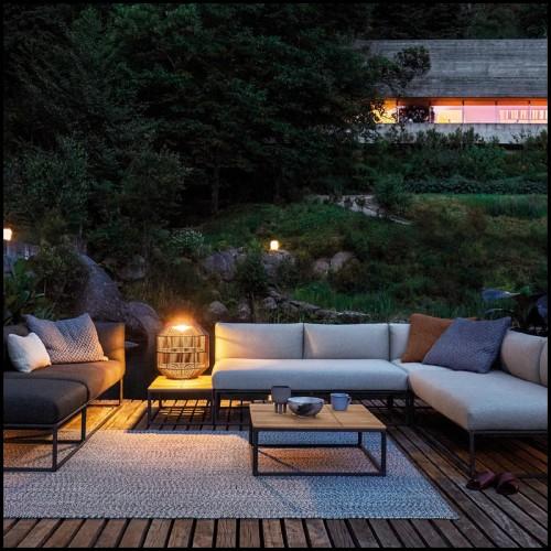 Set de 2 Coffres en bois massif finition noir et fermoir et poignée finition laiton antique 24-Kani