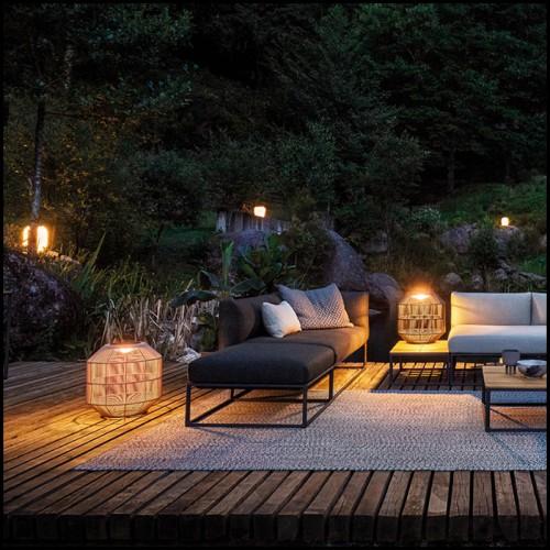Coffre en bois massif finition classique black et rotin 24-Philbert