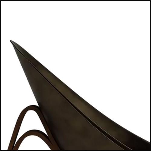 Fauteuil style vintage en bois massif finition classic brown et rotin 24-Aristide
