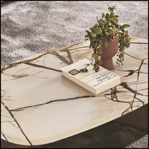 Fauteuil style contemporain en bois noir couvert avec tissus granite grey 24-Mondial