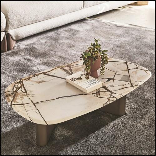 Fauteuil style contemporain en bois noir couvert avec tissus Avalon blanc 24-Mondial