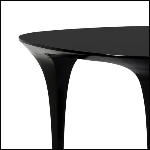 Fauteuil finition laiton brossé couvert avec tissus blanc Avalon 24-Candice