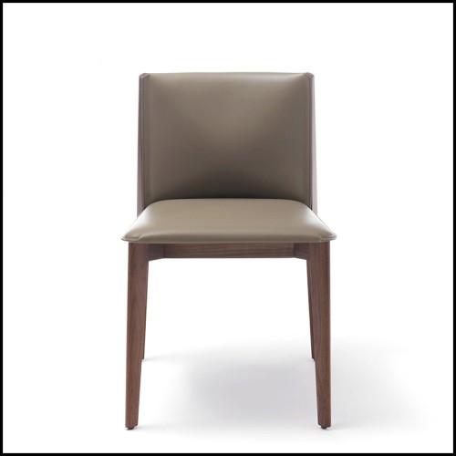 Banc style design en bois massif et rotin naturel 24-Arnaud
