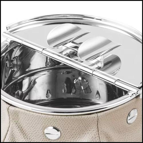 Tabouret style selle en cuir pleine fleur marrons 107-Cavallero Brown