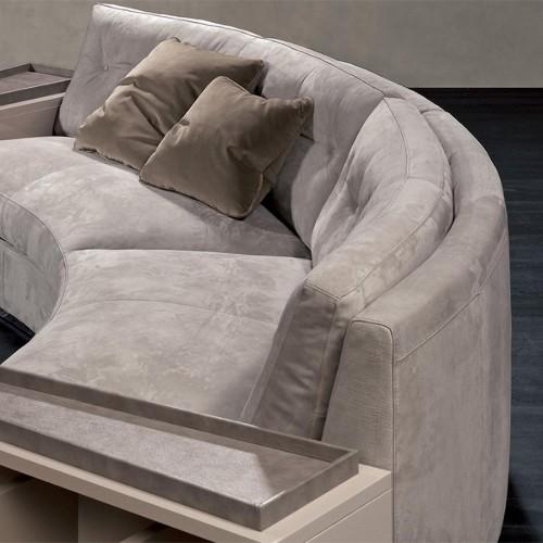 Horloge avec structure en acier et laiton finition nickel et cuir noir 24-BOURGEOIS