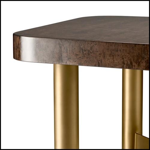 Fauteuil cage en métal finition chromée et velours noir 162-Cage