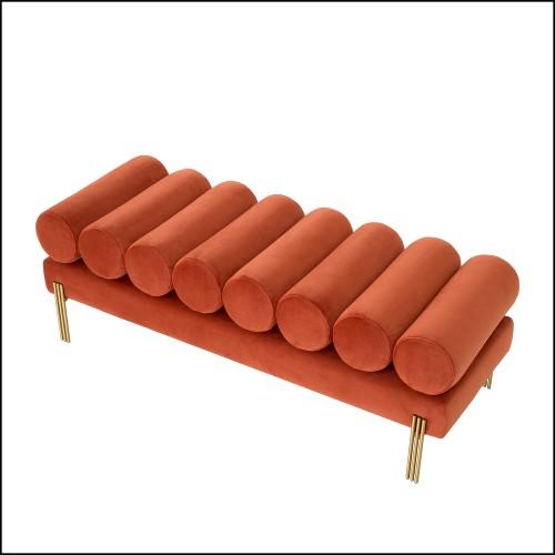 Table d'appoint en laiton massif finition laiton vieilli 119-Perone