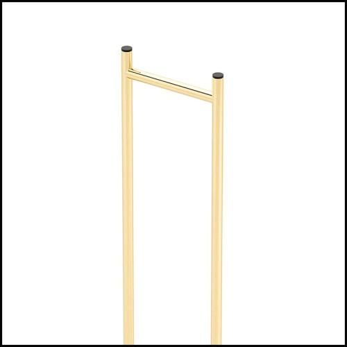 Table d'appoint en noyer massif et finition laiton brossé 163-Finestret