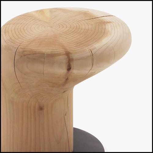 Fauteuil sur base pivotante rembourré de mousse et couvert de tissu polaire amovible 30-Lamby