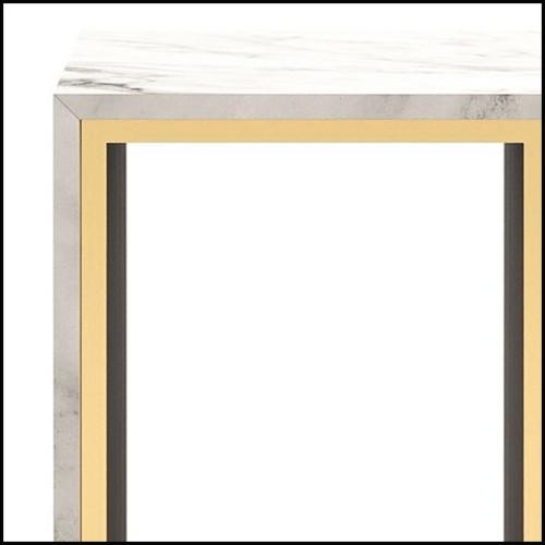 Table basse avec plateau en verre transparent base concave 146-Serail Clear