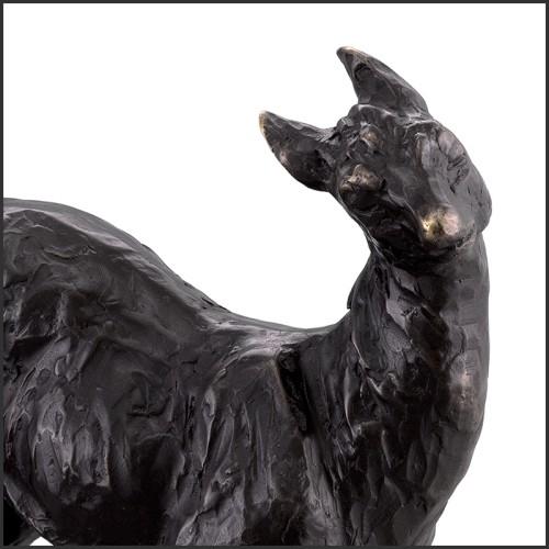 Table d'appoint  finition dorée avec plateau en marbre blanc 162-Nolan Gold