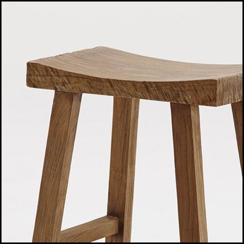 Tabouret avec base en fer et siège en cuir marron 154-Leatheron