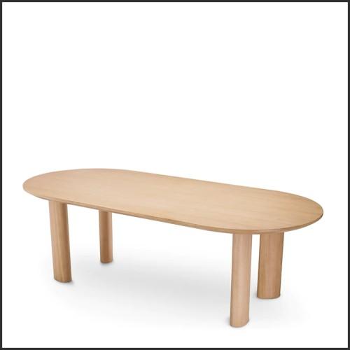 Table à manger en bois de noyer massif biseauté 163-Ornament