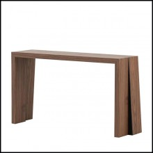 Console in walnut wood and iron feet 174-Denver