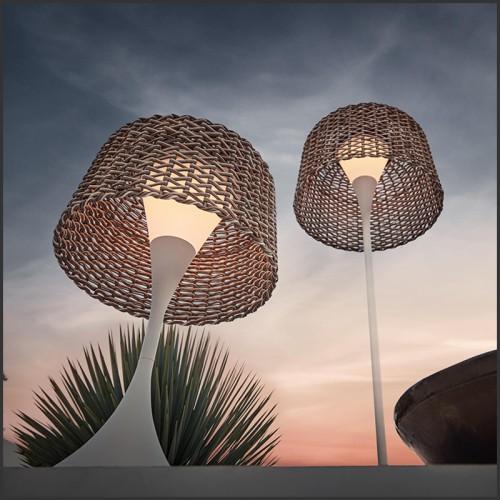 Bureau avec plateau en cuir et structure en laiton et bois 164-Lupus
