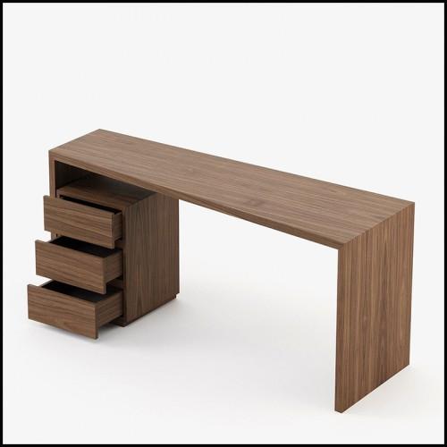 Table d'appoint ronde en marbre avec métal et noyer 163-Stelle Round