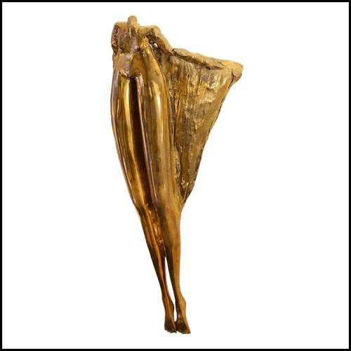 Sculpture éléphant en porcelaine et or 24k 196-Red Elephant