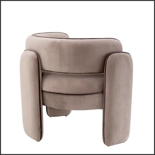 Table basse avec motif cannage sur verre ambré 146-Cane Amber