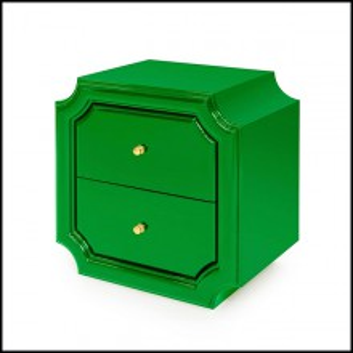 Table d'appoint en laqué vert 162-Timeo Green