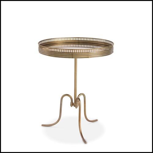 Table d'appoint forme de X avec verre noir 24-Fitch S