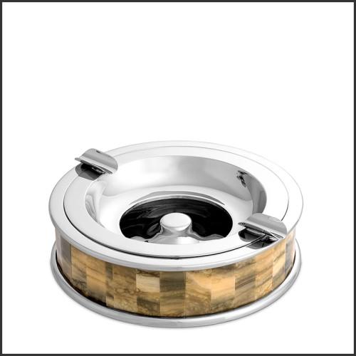 Chandelier avec cercles dorée et verre biseauté 24-Vincente