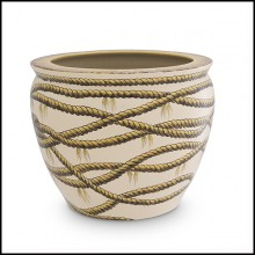 Vase en porcelaine avec corde peinte 24-Hermando