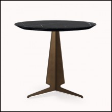 Table d'appoint base pyramidale et marbre 119-Gibson
