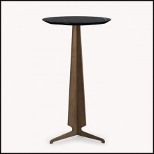 Table d'appoint base pyramidale avec marbre 119-Gibson