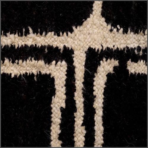Tables basses set de 3, fer forgé et verre noir 119-Nido