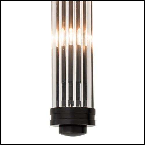 Lampe à poser laiton antique et sphère albâtre 24-Eternity