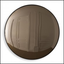 Miroir convexe brun 24-Pacifica Brown