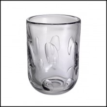 Vase in hand blown clear glass 24-Nino L