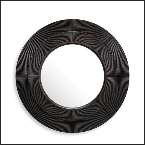 Table d'appoint laiton brossé et verre fumée 24-Proximity