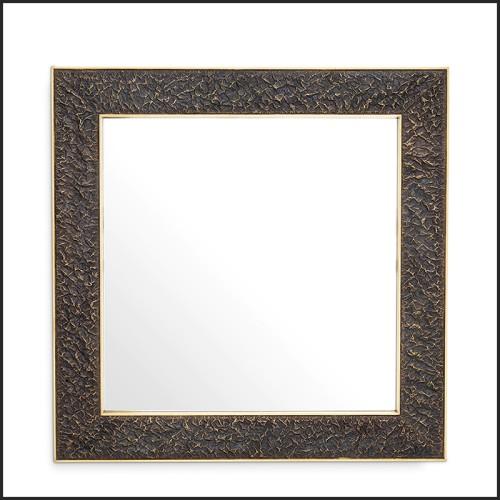 Table basse laiton antique et marbre italien 24-Tardieu