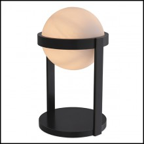 Lampe à poser gobe en verre avec design tourbillonnant 24-Hayward Bronze