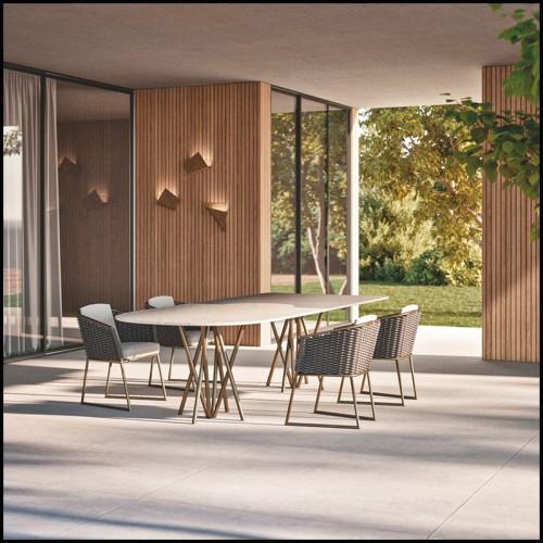Lampe à poser globe de verre avec design tourbillonnant 24-Hayward Brass