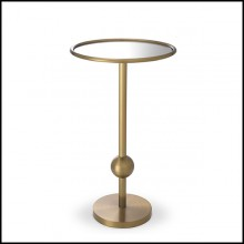 Side Table brushed brass and mirror glass 24-Narciso