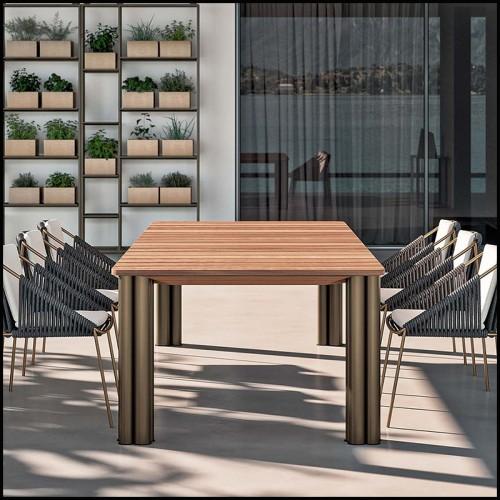 Table basse laiton et verre noir 24-Sinclair