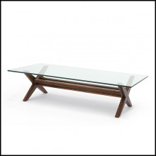 Table basse pieds en X finition Classic Brown 24-Maynor Brown