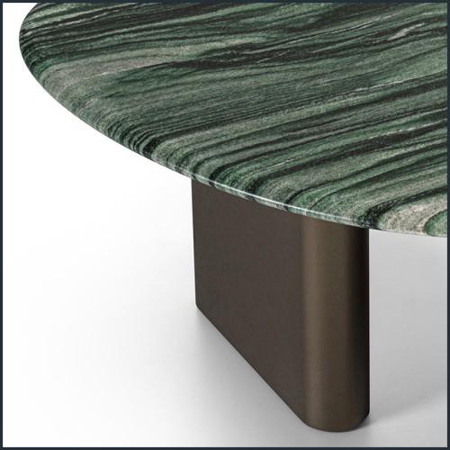Table basse en acajou et verre trempé clair 119-Niemeyer