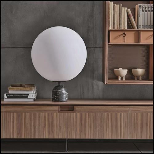 Table basse plaques semi-circulaire aspect marbre 24-Excelsior