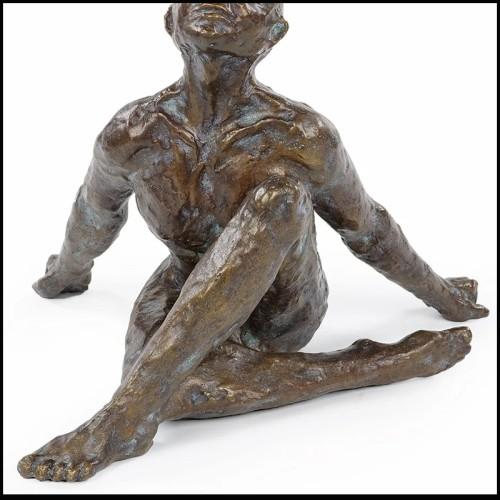 Sculpture en plaques d'aluminium foncé 119-Goril Black