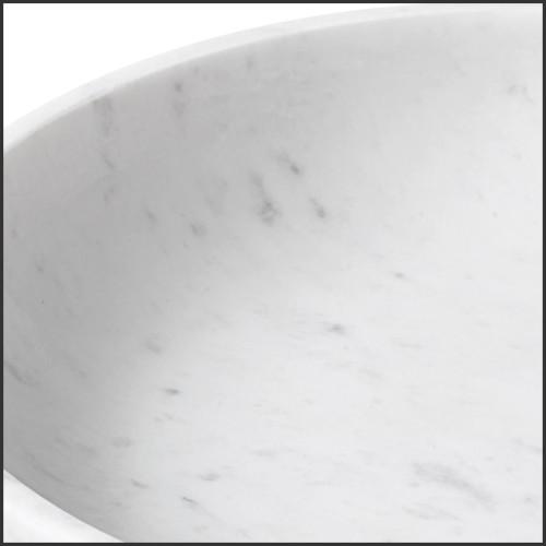 Table à manger en noyer et marbre 174-Carara