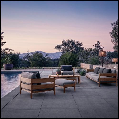 Chaise longue PCA coloris blanc 48-Fuse