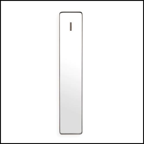 Table d'appoint finition bronze medium et marble bianco 24-Tardieu L