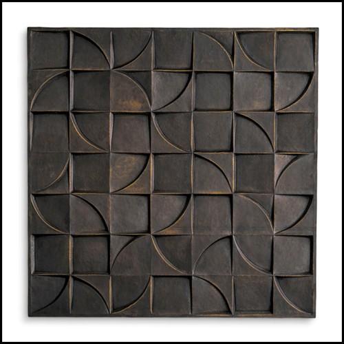 Console finition bronze medium et marbre bianco 24-Tardieu L