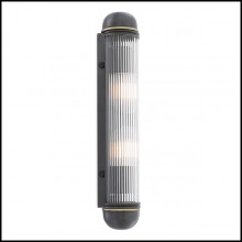 Applique finition laiton antique et tiges de verre verticales 24-Auburn Bronze
